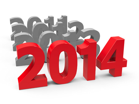2014 come represents the new year 2014, three-dimensional rendering
