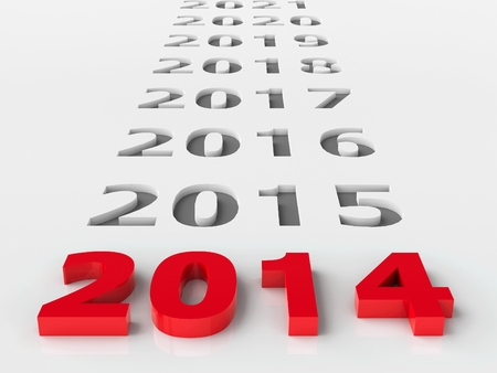 2014 future represents the new year 2014, three-dimensional rendering photo