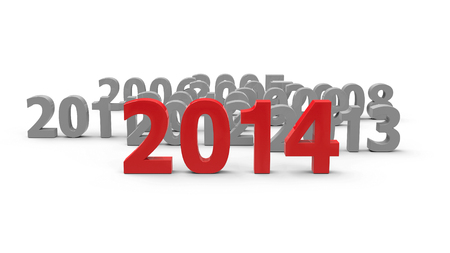 2014 come represents the new year 2014, three-dimensional rendering photo