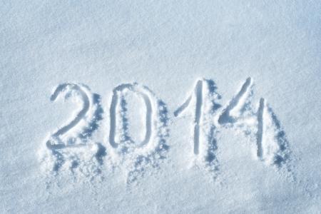 2014 written in snow, new year concept Stock fotó