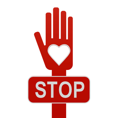 Stop war, love against war - concept, three-dimensional rendering Stock Photo