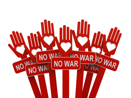 no war: No war, love against war - concept, three-dimensional rendering Stock Photo