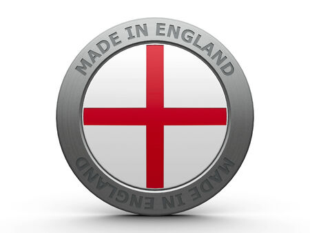 Emblem - made in England, three-dimensional rendering photo