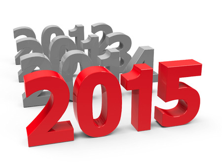 2015 come represents the new year 2015, three-dimensional rendering
