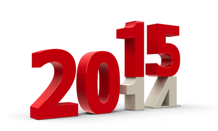 2014-2015 change represents the new year 2015, three-dimensional rendering Banco de Imagens - 31517488