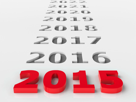 2015 future represents the new year 2015, three-dimensional rendering Stock Photo