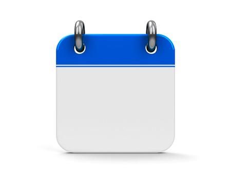Blank calendar icon, three-dimensional rendering Stock Photo