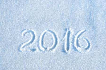 2016 written in snow, new year concept Stock fotó