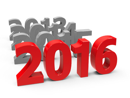 2016 come represents the new year 2016, three-dimensional rendering