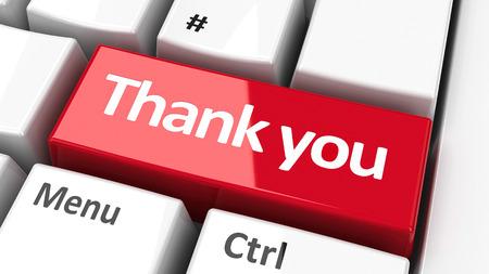 klawiatura: Dziękuję klawisz na klawiaturze komputera, trójwymiarowe renderowania