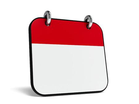 rendering: Empty calendar icon, three-dimensional rendering Stock Photo