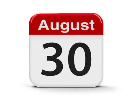 enforced: Calendar web button - The Thirtieth of August - International Day of the Victims of Enforced Disappearances, three-dimensional rendering, 3D illustration Stock Photo
