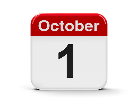 older: Calendar web button - The First of October - International Day of Older Persons, International Music Day, World Vegetarian Day, Independence Day in Cyprus and Nigeria, National Day in China, three-dimensional rendering, 3D illustration