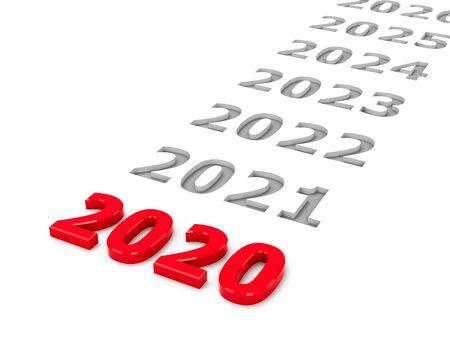2020 future represents the 2020 year, three-dimensional rendering, 3D illustration Stock fotó