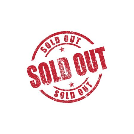 Sold Out stamp print vector