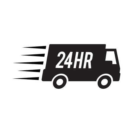 24hr delivery truck icon