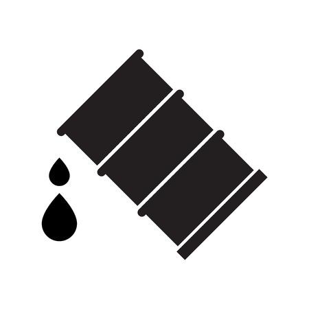 Oil drum vector illustration. Ilustração
