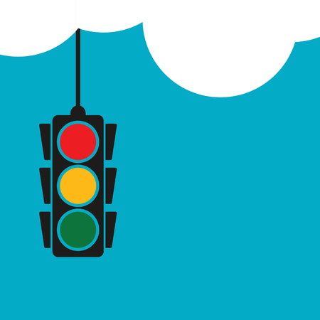 Traffic light clouds vector