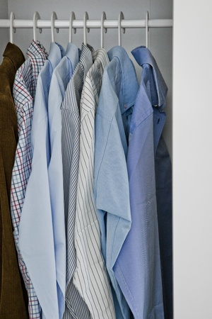 chemise: Wardrobe of a man Stock Photo