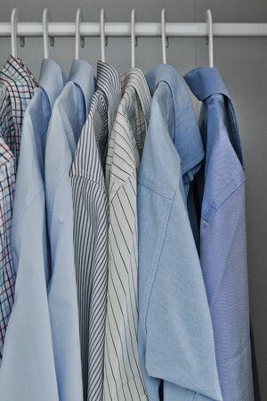 Wardrobe of a man photo