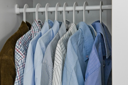 garderobe: Wardrobe of a man Stock Photo