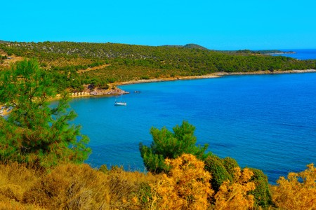 thassos: The beautiful island Thassos from Greece Stock Photo