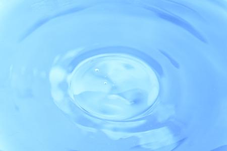 backround: Water drop on blue backround