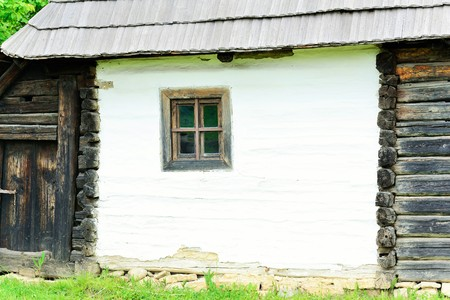 very: Very old window of a very old country house