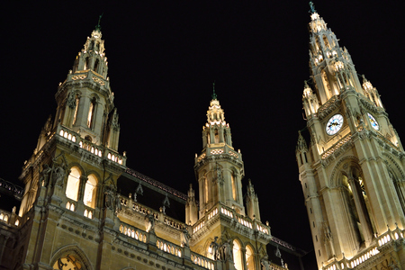 Wiener Rathaus is the city hall of Vienna constructed from 1872 to 1883 in a Neo-Gothic style according to plans designed by Friedrich von Schmidt, it houses the office of the Mayor of Vienna.