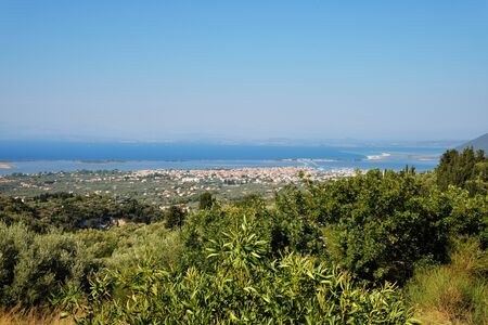 Panorama over the Lefkada Town, Lefkada is the capital city of the island and an unit of municipality Lefkada. It is the most important town of the Lefkada island, with the population of about 13,000.