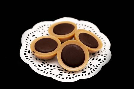 Raw vegan toffifee, a healthy and delicious dessert with peanut butter