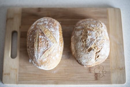 Sourdough bread is made by the fermentation of dough using naturally occurring lactobacilli and yeast. Sourdough bread has a more sour taste and better inherent keeping qualities