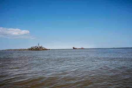 Musura Bay near the Black Sea and Danube Delta, the wreck of the cargo ship TURGUT S, which failed in December 2009 while trying to shelter from the storm on its way to Ilycevsk.