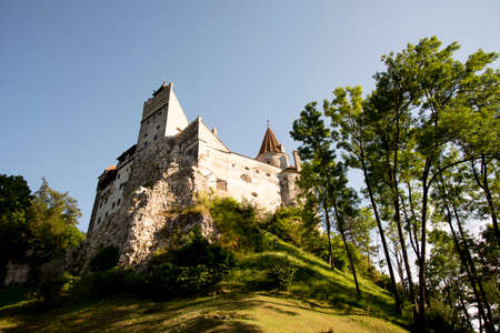 Bran Castle known as Dracula's Castle from Transylvanian, Roumania, is an old fortress. The castle is now a museum dedicated to displaying art and furniture collected by Queen Marie of Romania