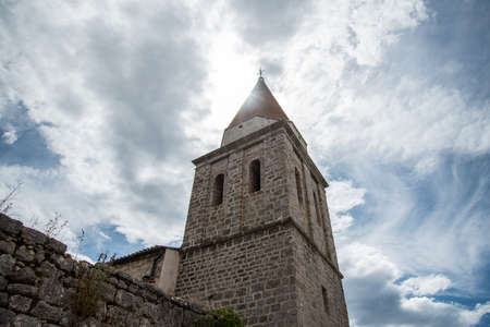 Picture of City Krk, Croatia. Krk City is a fortified town even today, with walls along its entire length.
