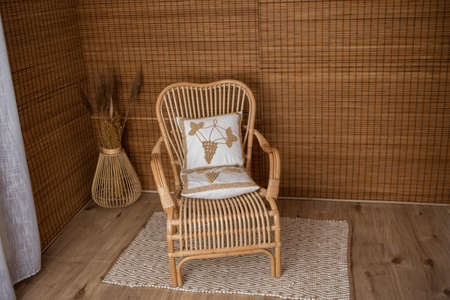 Rattan decor, perfect decoration for photo sessions, monochrome and with rattan elements