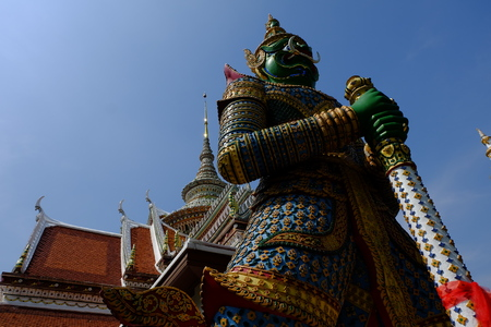 safeguarding: Giant statue of a temple in Thailand