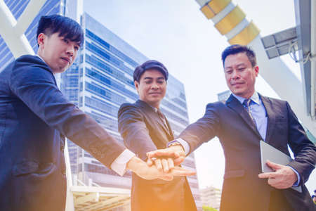 Business teamwork hand. My partner Business they are show hand teamwork ,Success and together. Photo concept business and teamwork.