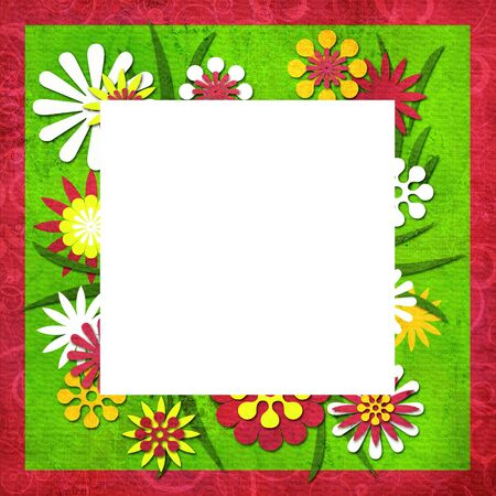 Summer funny cutout frame for photo or text photo