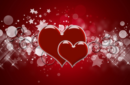 Hearts Background photo