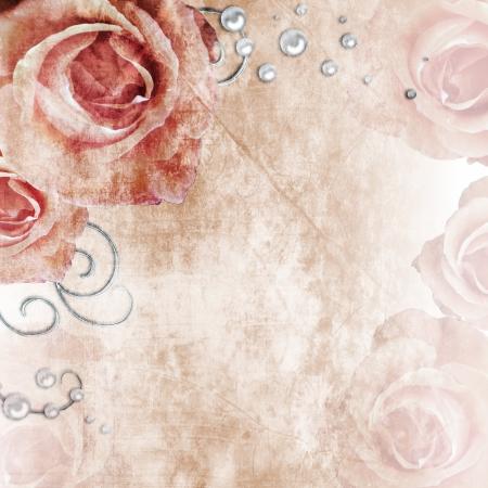 wedding card design: Grunge wedding background