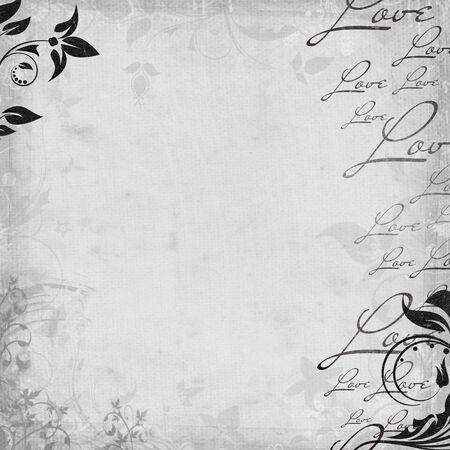 Romantic  vintage background in skrapbooking style  (1 of set) photo