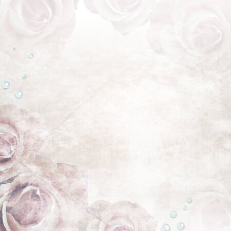grunge textures: Grunge Beautiful Roses Background ( 1 of set)  Stock Photo