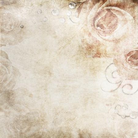 grunge textures: Grunge Beautiful Roses wedding Background ( 1 of set)