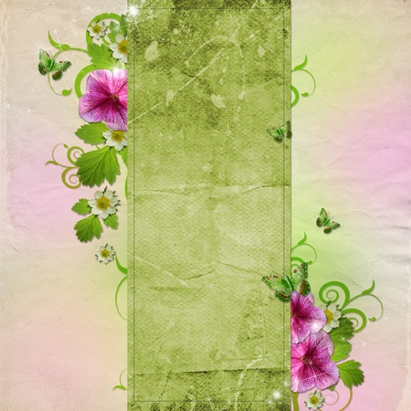 congratulation card: Background for congratulation card in pink and green