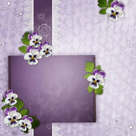 Template For Birthday Or Mothers Day Greetings Card Stock Photo