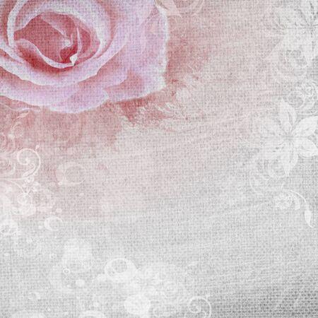 ローズとグランジ ロマンチックな背景とダイヤモンド