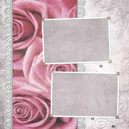 vintage wedding frame for photo  photo