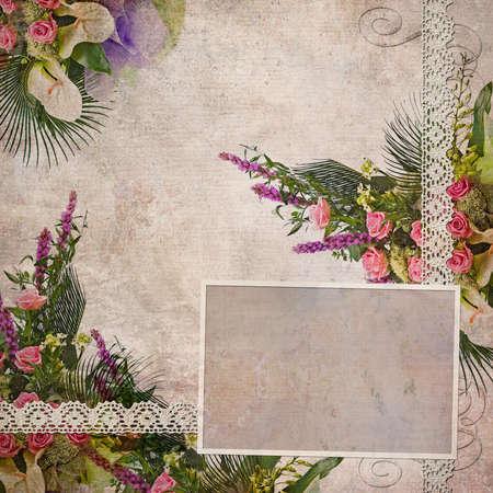 vintage wedding frame for photo  photo