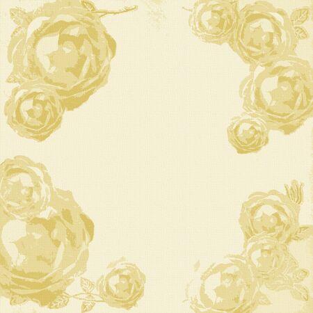 Beautiful beige retro roses background  photo